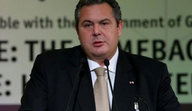 """Ο υπουργός Άμυνας Πάνος Καμμένος μιλά στην δεύετρη ημέρα των εργασιών του συνεδρίου του Economist """"19η Συζήτηση Στρογγυλής Τραπέζης με την Ελληνική Κυβέρνηση"""" την Παρασκευή 15 Μαΐου 2015.  (EUROKINISSI/ΓΕΩΡΓΙΑ ΠΑΝΑΓΟΠΟΥΛΟΥ)"""