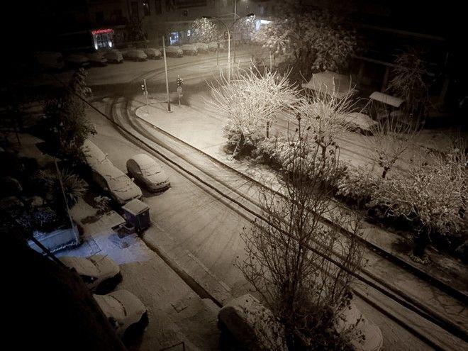Χιόνια στο Γκύζη από την κακοκαιρία
