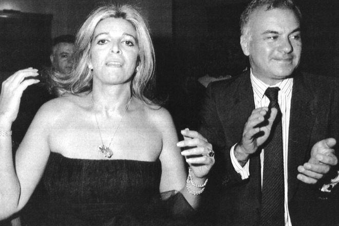 Η Χριστίνα Ωνάση με τον Γιώργο - Χόρχε Τσολμεκτόγλου το 1988, λίγο καιρό πριν πεθάνει.