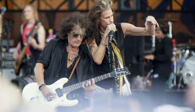 Joe Perry και Steven Tyler των Aerosmith