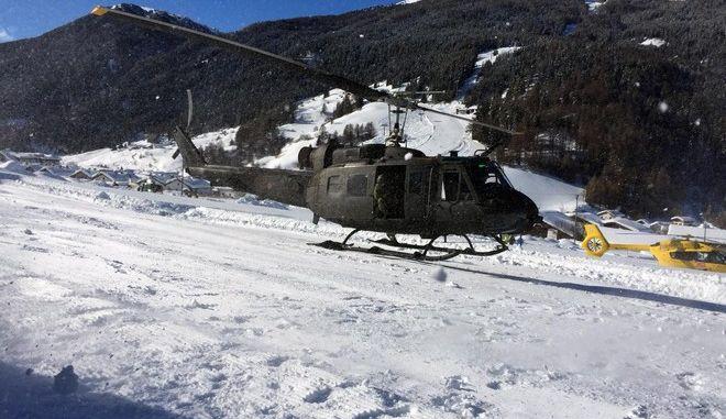 Επιχείρηση μετά από χιονοστιβάδα στην Ιταλία