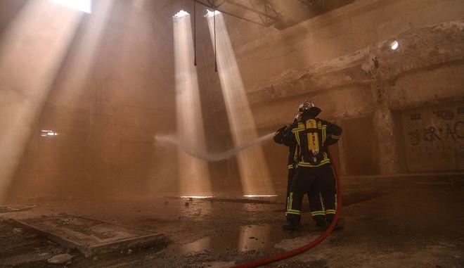 Άσκηση Πυροσβεστικής στη Δραπετσώνα