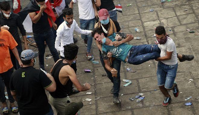 Καρέ από τις ταραχές στο Ιράκ