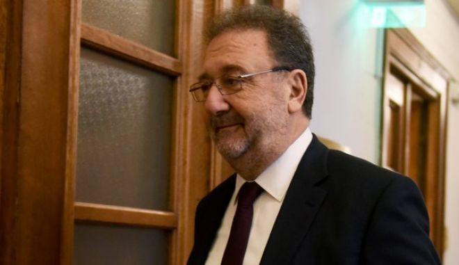 Συνεδρίαση του πρώτου υπουργικού συμβουλίου για το 2018 σήμερα στην βουλή.Στην φωτογραφία ο υφυπουργός οικονομίας και ανάπτυξης Στέργιος Πιτσιόρλας, Δευτέρα 8 Ιανουαρίου 2018 (EUROKINISSI/ΤΑΤΙΑΝΑ ΜΠΟΛΑΡΗ)