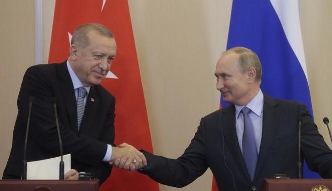 Ο Βλαντιμίρ Πούτιν και ο Ταγίπ Ερντογάν