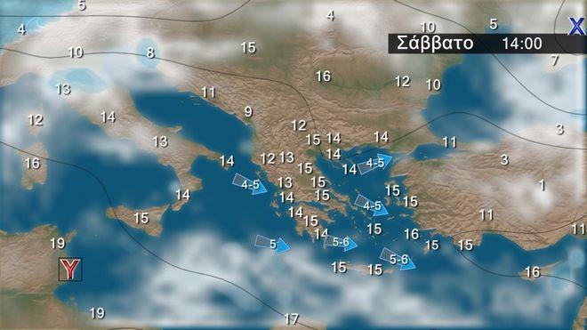 Καιρός: Τοπικές βροχές στα δυτικά τα βόρεια και το Ανατολικό Αιγαίο