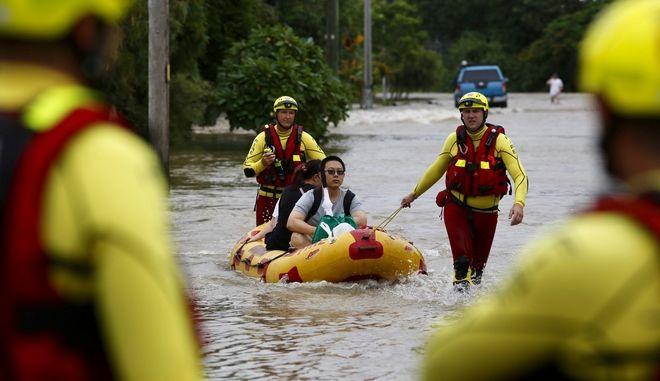 """Εκτεταμένες πλημμύρες με εύρος που δεν καταγράφεται παρά """"κάθε αιώνα"""" σάρωσαν την Αυστραλία"""