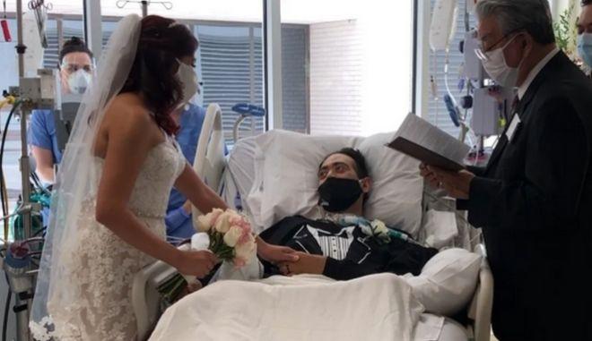 Γάμος ασθενή με κορονοϊό στο νοσοκομείο