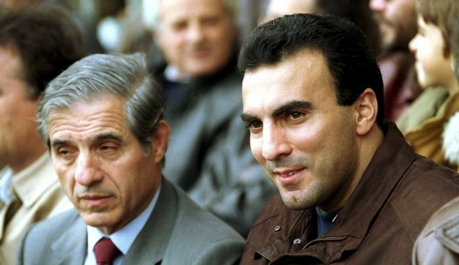 Ο Παύλος Γιαννακόπουλος με τον Νίκο Γκάλη