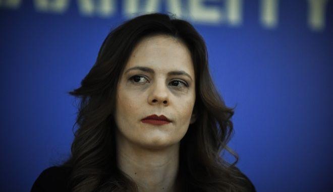 Η υπουργός Εργασίας, Έφη Αχτσιόγλου (Φωτογραφία αρχείου)