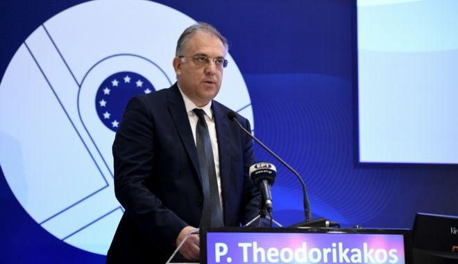 """Ζαππειο διεθνες συνέδριο """"POLITEIA"""". ομιλία του υπουργού εσωτεικών Τακη Θεοδωρικάκου.  (EUROKINISSI/ ΜΙΧΑΛΗΣ ΚΑΡΑΓΙΑΝΝΗΣ)"""