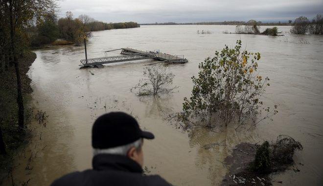 Υπερχείλιση του ποταμού Πο στην Ιταλία