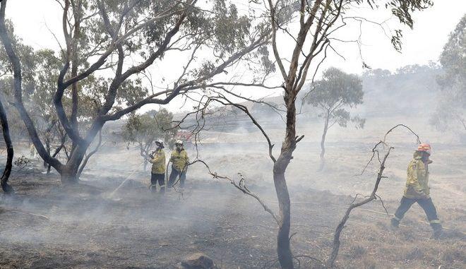 Πυροσβέστες σε επιχείριση κατάσβεσης στην Αυστραλία