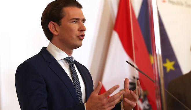 O καγκελάριος της Αυστρίας Σεμπάστιαν Κουρτς