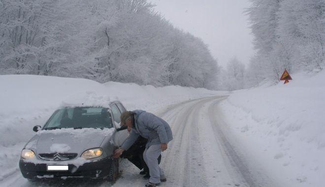 Στιγμιότυπα από το χιονοδρομικό κέντρο Βίγλας στην Φλώρινα, Τετάρτη 8 Φεβρουαρίου 2012. (EUROKINISSI // ΤΗΛΕΜΑΧΟΣ ΚΟΚΚΟΣ)