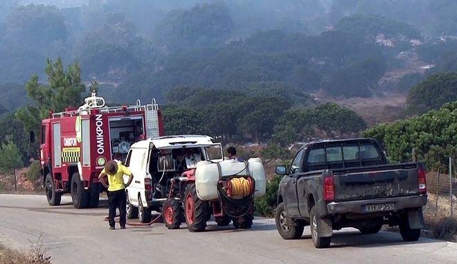 Πυρκαγιά στη νότια Χίο - Φωτογραφία αρχείου