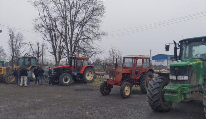 Κινητοποιήσεις αγροτών στον Πλατύκαμπο Λάρισας την Δευτέρα 27 Ιανουαρίου 2020.