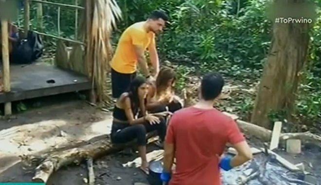 Survivor 4: Το επίμαχο πλάνο με το μασάζ του Σάκη στη Μαριαλένα