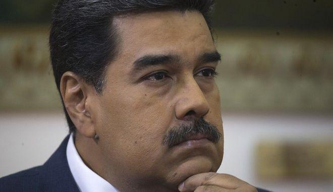 Ο πρόεδρος της Βενεζουέλας Νικολάς Μαδούρο σε συνέντευξη στο Καράκας