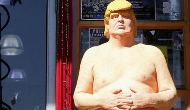 Γυμνό άγαλμα του Τραμπ πωλήθηκε έναντι 28.000 δολαρίων