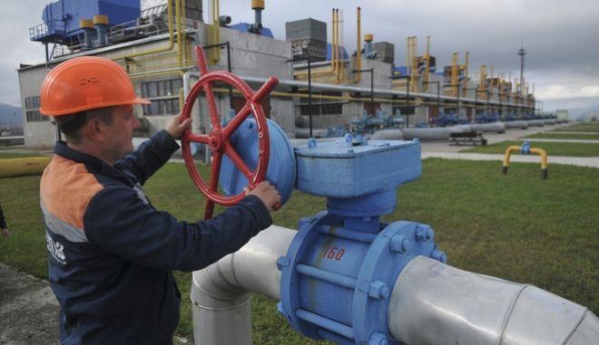 Eργάτης σε σταθμό φυσικού αερίου, Ουκρανία