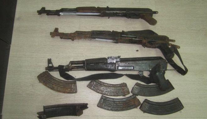 Βαρύς οπλισμός και πυρομαχικά εντοπίστηκαν από αστυνομικούς της Υποδιεύθυνσης Ασφαλείας Ηρακλείου
