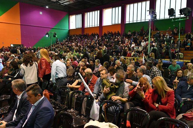 Καλαμάτα: Λίγο πριν από την έναρξη της ομιλίας του Αλέξη Τσίπρα