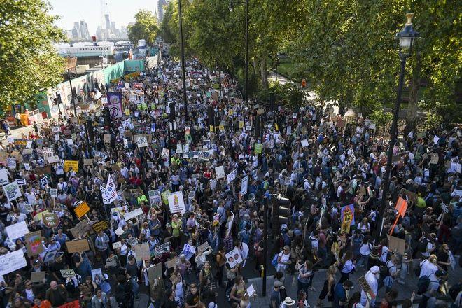Λονδίνο - Παγκόσμια απεργία για το κλίμα