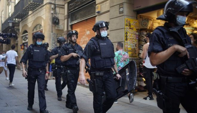 Αστυνομία στη Βαρκελώνη