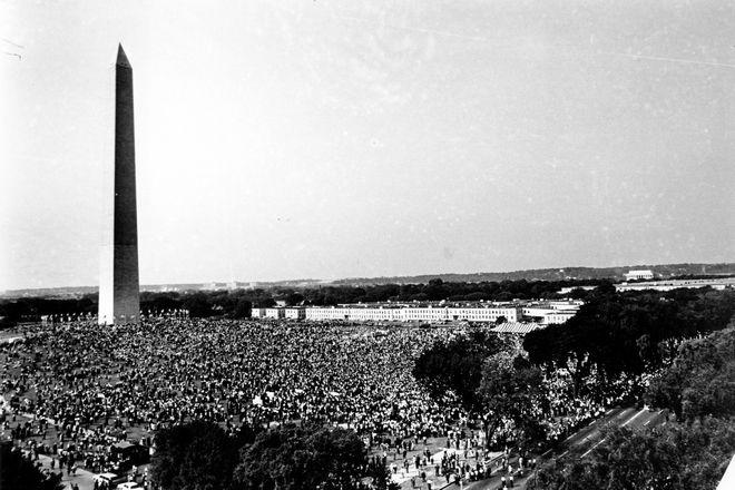 Το πλήθος στην Πορεία της Ουάσινγκτον
