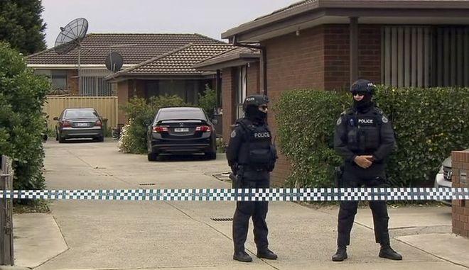 Αστυνομία σε σπίτι στην Αυστραλία. Φωτό αρχείου.