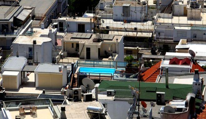 Η πόλη της Αθήνας όπως φαίνεται από ψηλά.