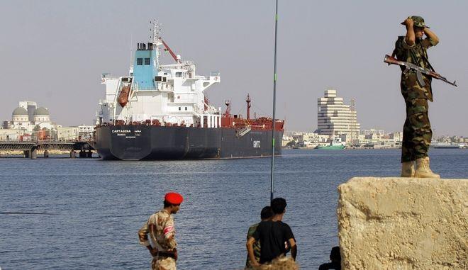 Λιμάνι της Λιβύης. Φωτο αρχείου.