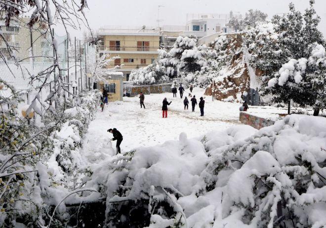 Η χιονισμένη Κυψέλη