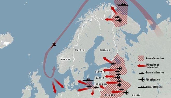 Χάρτης: Έτσι η Ρωσία θα κατακτούσε Γερμανία και Ευρώπη