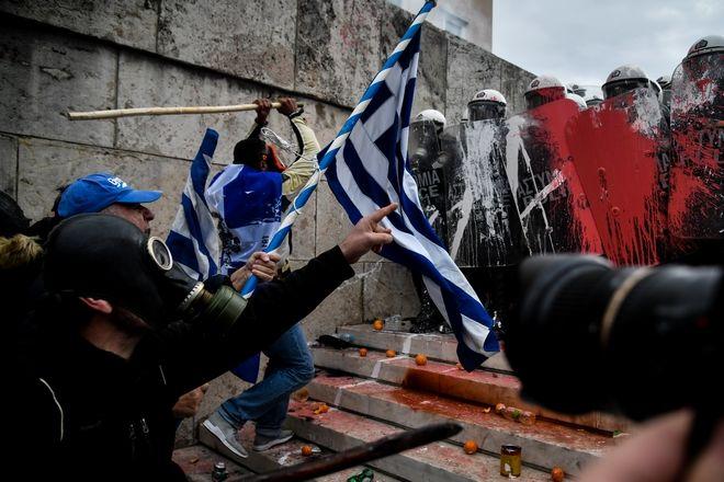 Άγρια επεισόδια στο Συλλαλητήριο για τη Συμφωνία των Πρεσπών