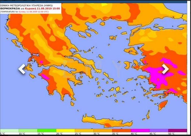 Καύσωνας προ των πυλών: Στους 40 βαθμούς το θερμόμετρο - Ποιες περιοχές θα δεχτούν το κύμα ζέστης