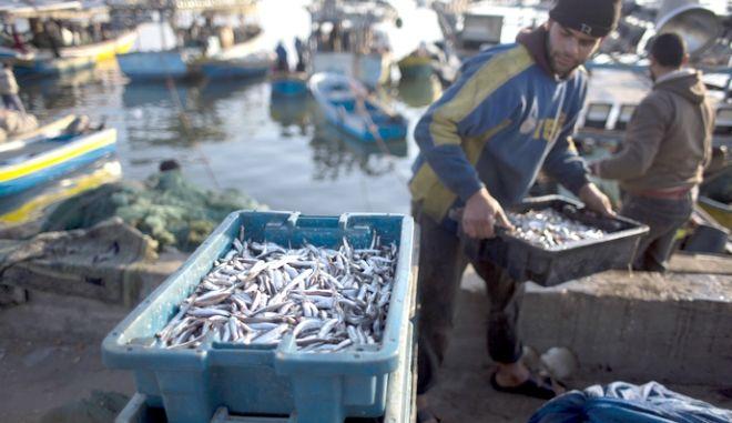 Ψαράδες στη Γάζα