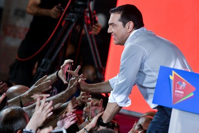 Κεντρική προεκλογική συγκέντρωση του ΣΥΡΙΖΑ στο Σύνταγμα με ομιλία του Πρωθυπουργού Αλέξη Τσίπρα, Παρασκευή 5 Ιουλίου 2019.