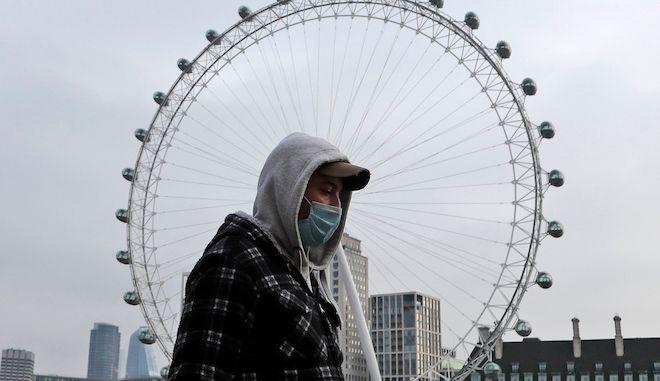 Στιγμιότυπο από το London Eye εν μέσω lockdown, 8 Ιανουαρίου 2021