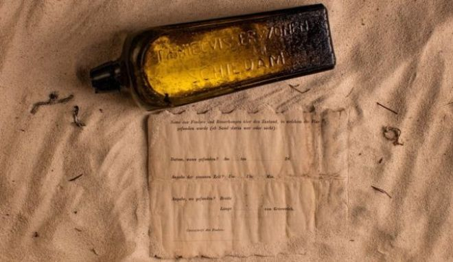Αυτό είναι το παλαιότερο μήνυμα σε μπουκάλι που έχει πετάξει ποτέ κάποιος στη θάλασσα