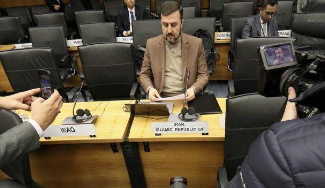 Φωτό αρχείου: Ο Πρέσβης του Ιράν στον Διεθνή Οργανισμό Ατομικής Ενέργειας, Gharib Abadi