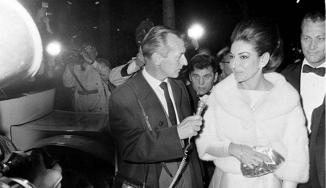 Η Μαρία Κάλλας σε εκδήλωση στο Παρίσι το 1968