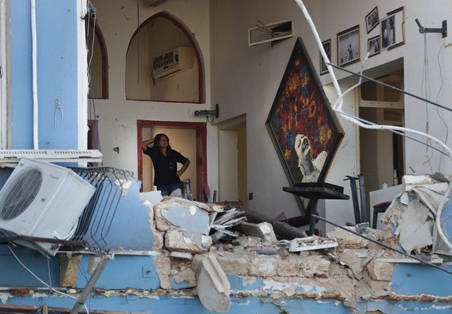Ζημιές από την έκρηξη στη Βηρυτό