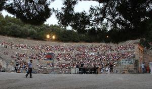 Στιγμιότυπο από το θέατρο της Επιδαύρου