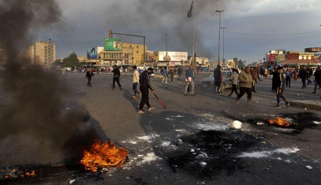 Διαδήλωση στη Βαγδάτη μετά την ιρανική επίθεση