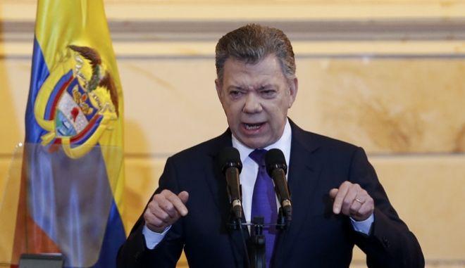 Ο πρώην πρόεδρος της Κολομβίας Juan Manuel Santos