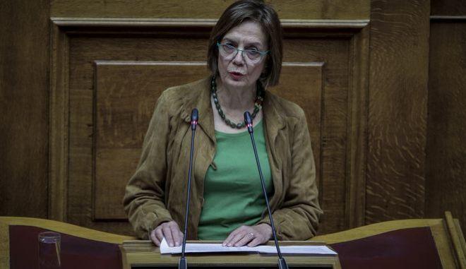 Η υπουργός Πολιτισμού, Μυρσίνη Ζορμπά