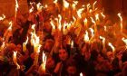 Η τελετή αφής του Αγίου Φωτός στα Ιεροσόλυμα