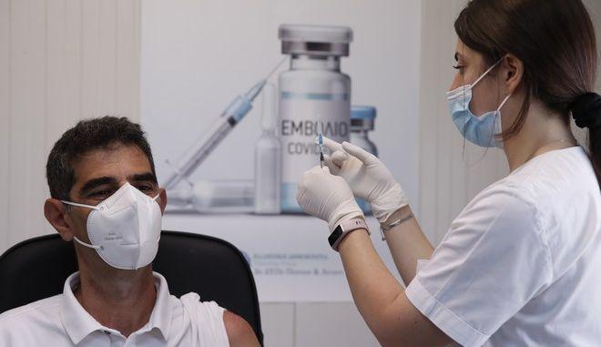 Εμβολιασμός.